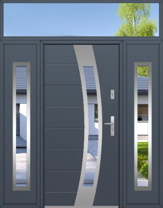 kundenspezifische Konfiguration - Fargo Tür mit zwei Seitenwänden und Oberlicht