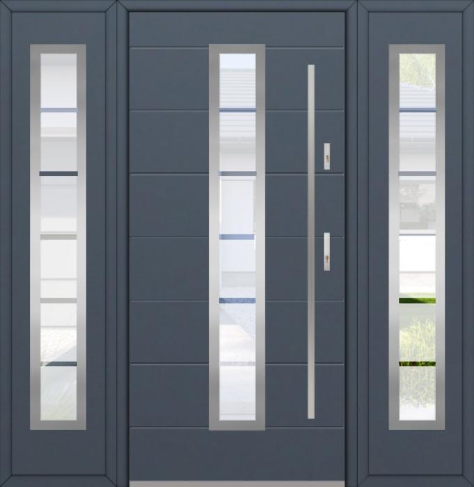 Fargo 12C T - Eingangstüren aus Metall mit zwei Seitenteilen