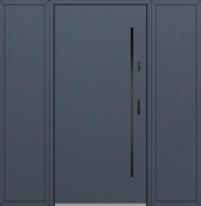 Fargo 1 T - Eingangstüren aus Metall mit zwei Seitenteilen