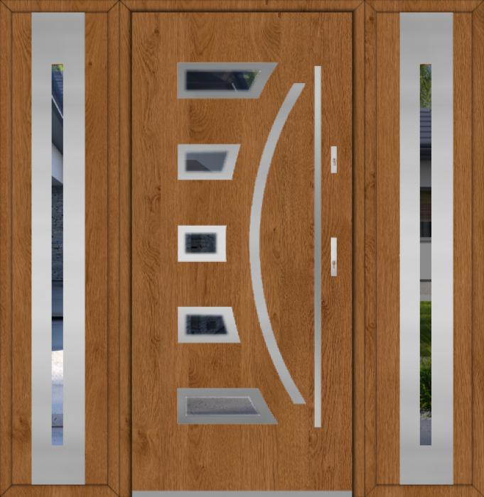Fargo 23 T - Haustüren Simply mit zwei Seitenteilen