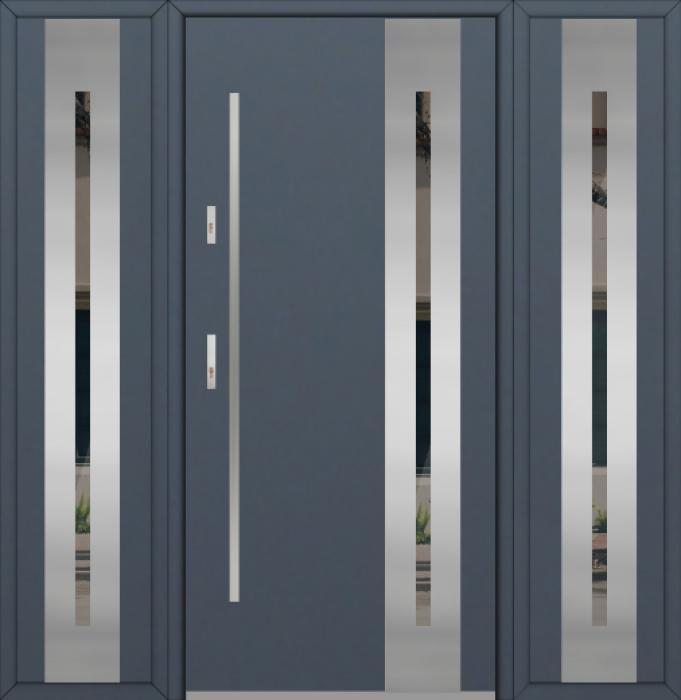 Fargo 26B T - Eingangstüren aus Metall mit zwei Seitenteilen