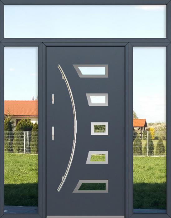 kundenspezifische Konfiguration - Fargo Tür mit linkem und rechtem Seitenteil und Oberlicht