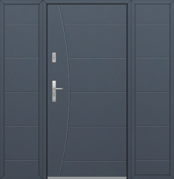 Fargo 26F T - moderne Haustüren mit zwei Seitenteilen