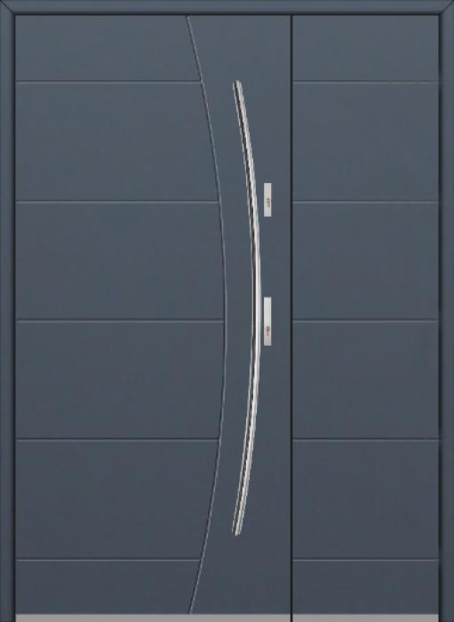 Fargo 26G DB - Haustüren Simply Edelstahl mit Seitenteil