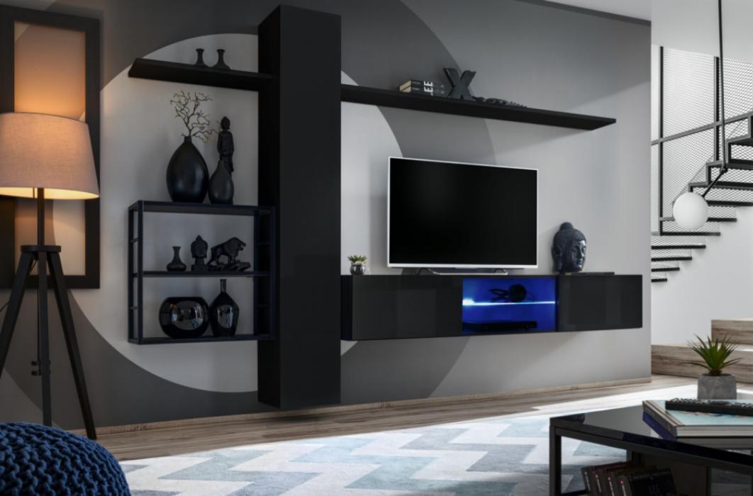 Shift M5 - moderne wohnwand für wohnzimmer