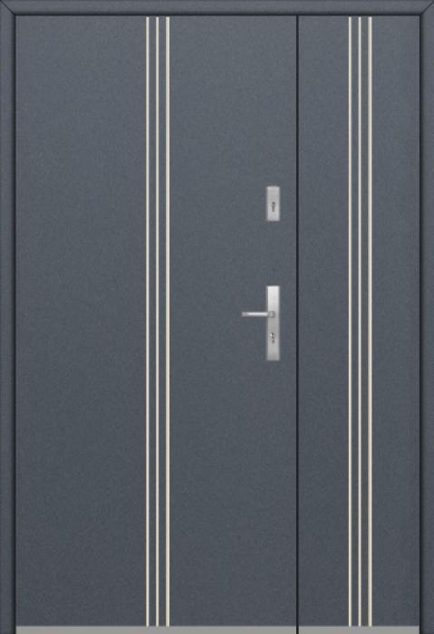 Fargo 32 DB - Haustüren Simply Edelstahl mit Seitenteil