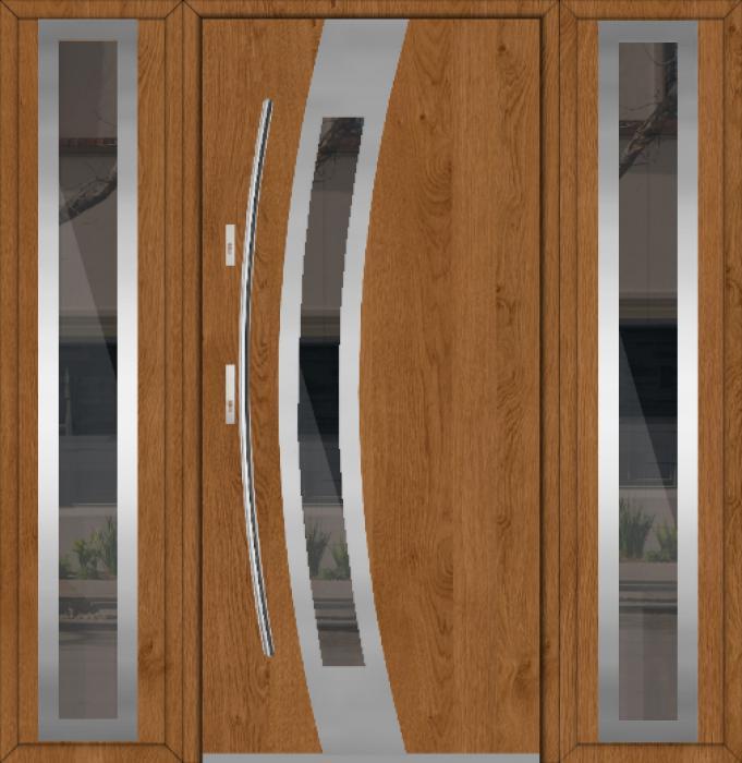Fargo 38A T - Edelstahl Haustüren mit zwei Seitenteilen