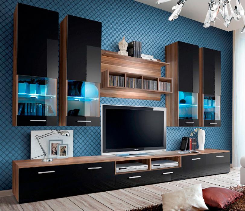 Torino 3 - Wohnwand schwarz