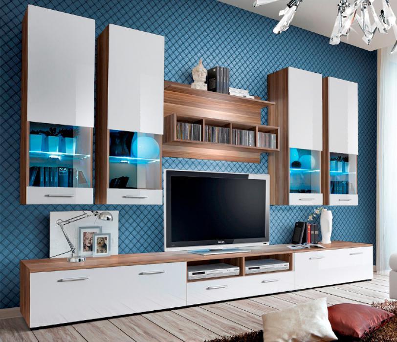 Torino 2 - Wohnwand weiß