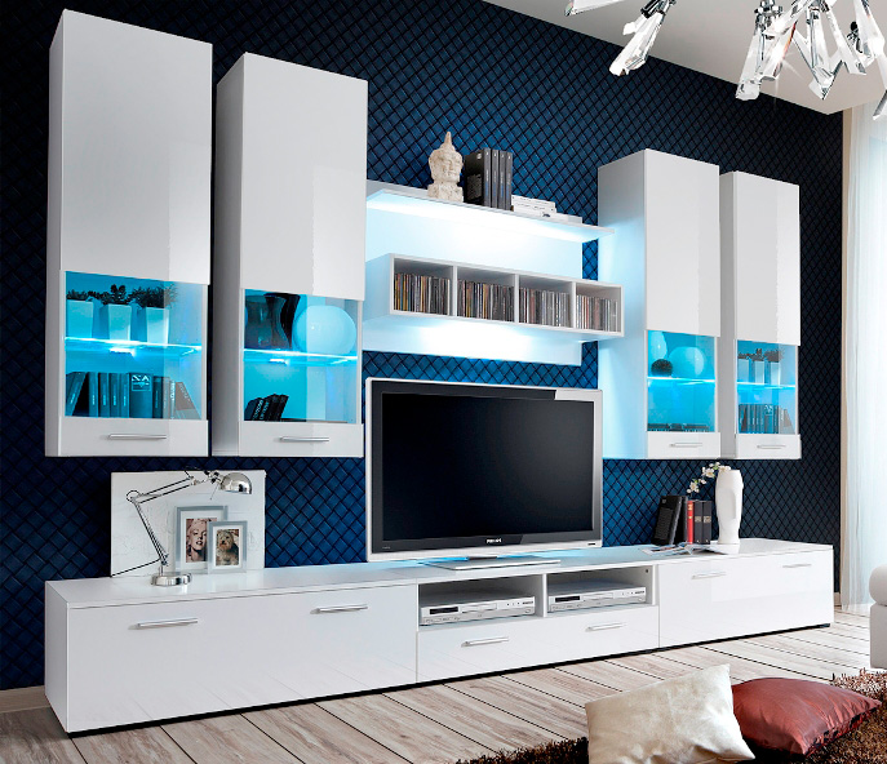 Montreal 1 - Wohnwand weiß