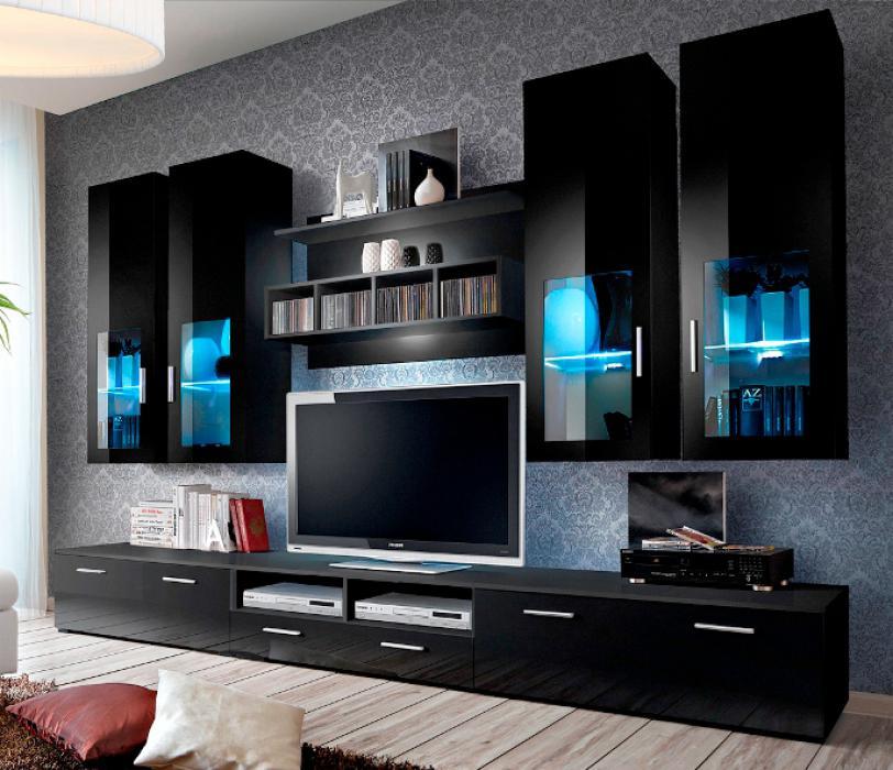 Presto 5 - Wohnwand schwarz