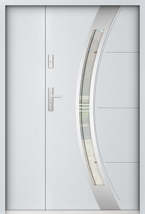 Sta Andromeda Uno - Haustüre Simply Edelstahl mit Seitenteil