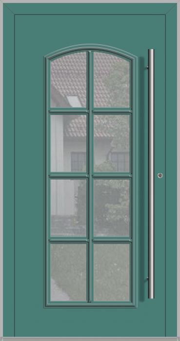 RAPSODIA-T - klassische Aluminium-Haustür mit Glas