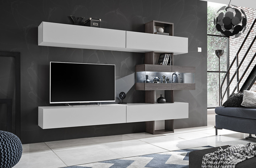 Astok - Wohnwand grau