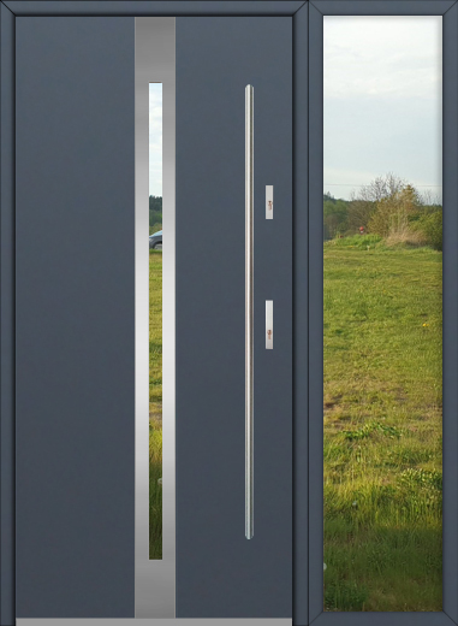 kundenspezifische Konfiguration - Fargo Tür mit rechter Seitenwand (Ansicht von außen)