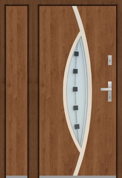 kundenspezifische Konfiguration - Fargo Tür ohne offene linke Seitenwand (Ansicht von außen)
