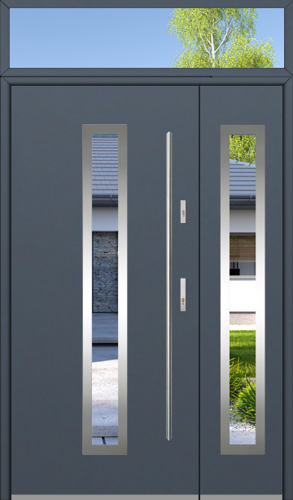 kundenspezifische Konfiguration - Fargo Tür mit mit Seitenwand und Oberlicht