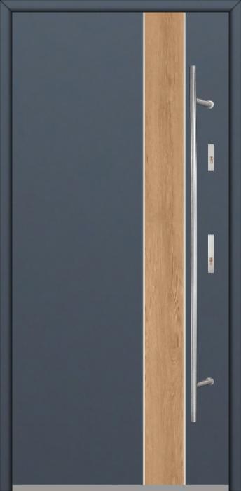 Fargo Fi01B -  future inox - Silber Haustüren