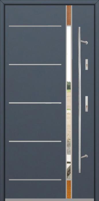 Fargo Fi04D - future inox - Silber Haustüren