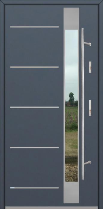 Fargo Fi07D - future inox - Silber Haustüren aus Deutschland