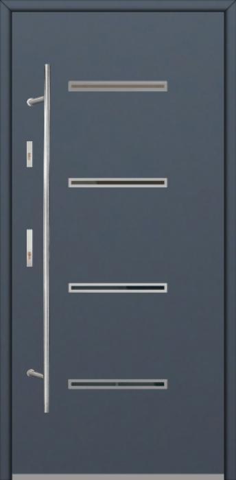 Fargo Fi09A - future inox - Silber Edelstahl Haustüren