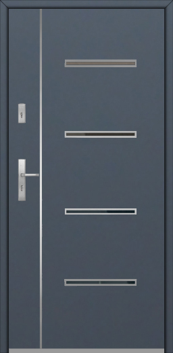 Fargo Fi09B - future inox - Silber Haustüren solid