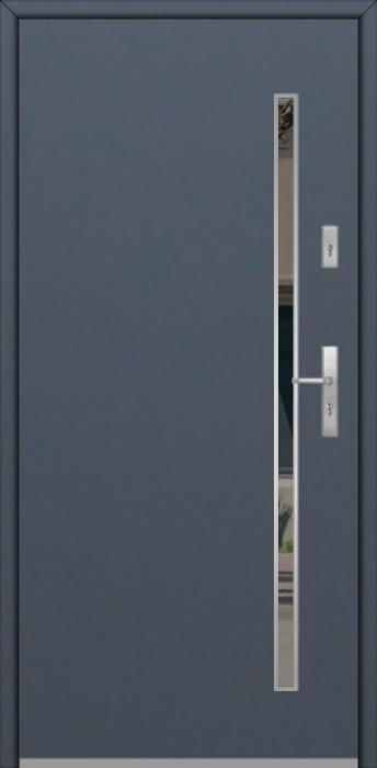 Fargo Fi10A - future inox - Silber Haustüren