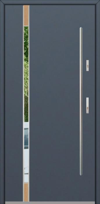 Fargo Fi04C - future inox - Silber Haustüren