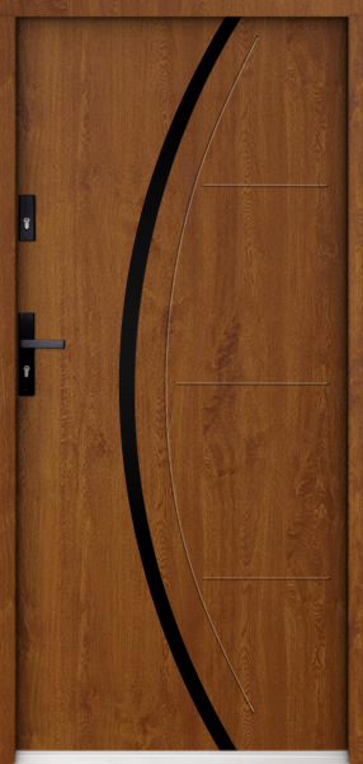 Sta Phoenix noir - Edelstahl Eingangstür