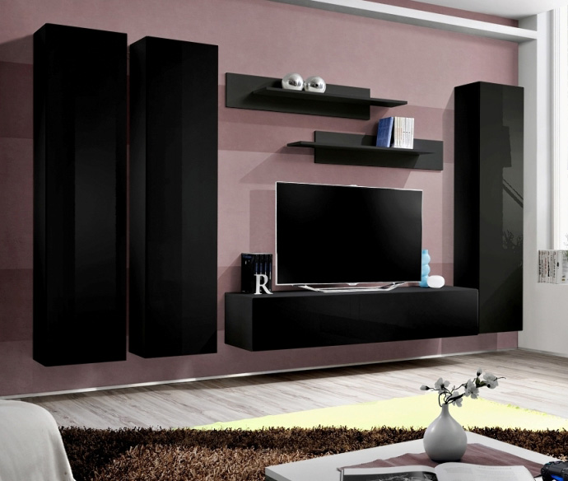 Idea d1 - Wohnwand schwarz