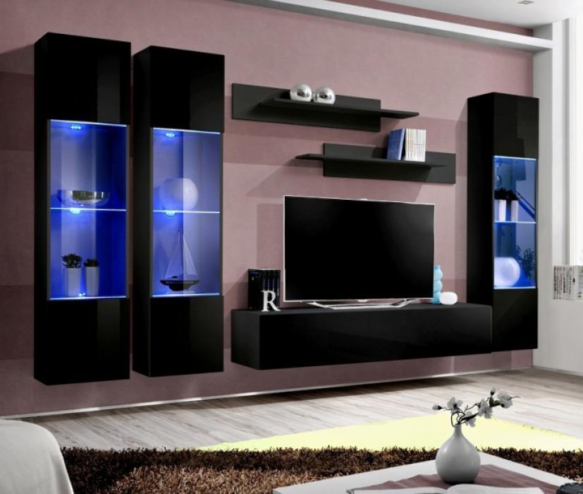 Idea d9 - Wohnwand schwarz