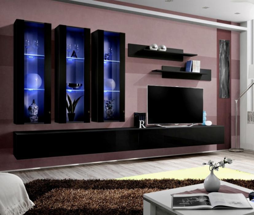 Idea E1 - Wohnwand schwarz
