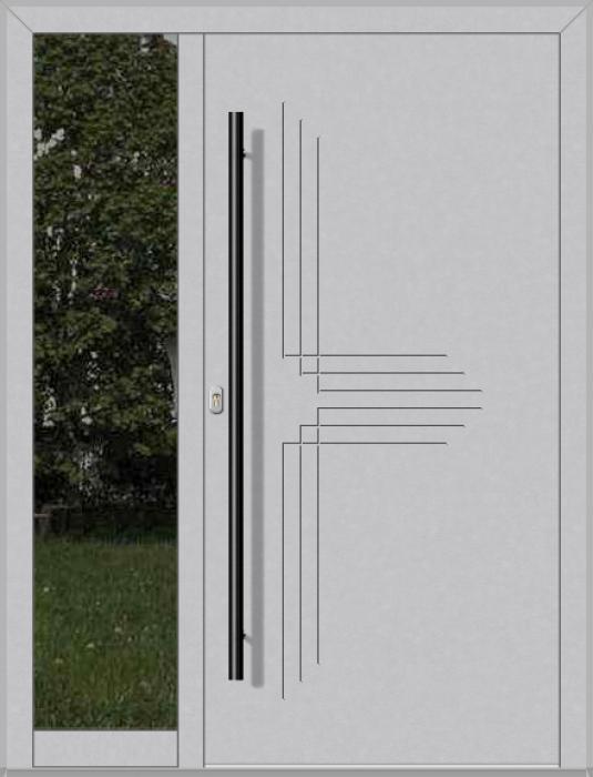 LIM-Tür mit linkem Seitenlicht (Ansicht von außen)