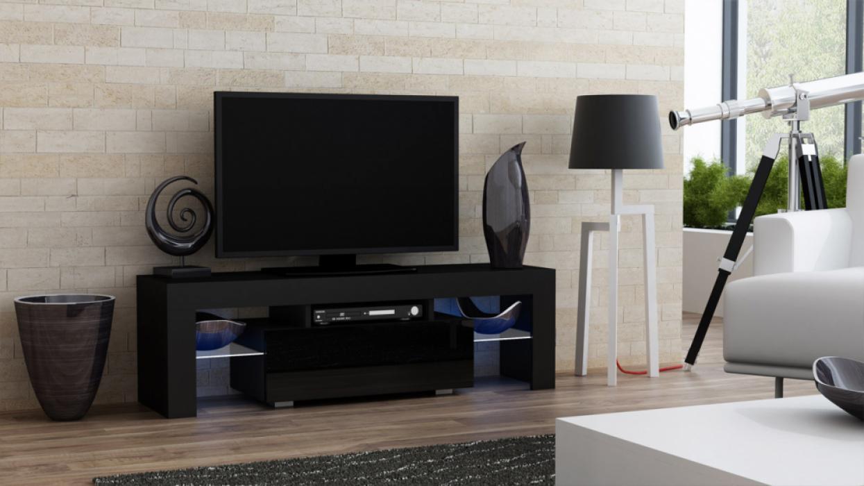 Milano 130 schwarz - TV-Möbel holz