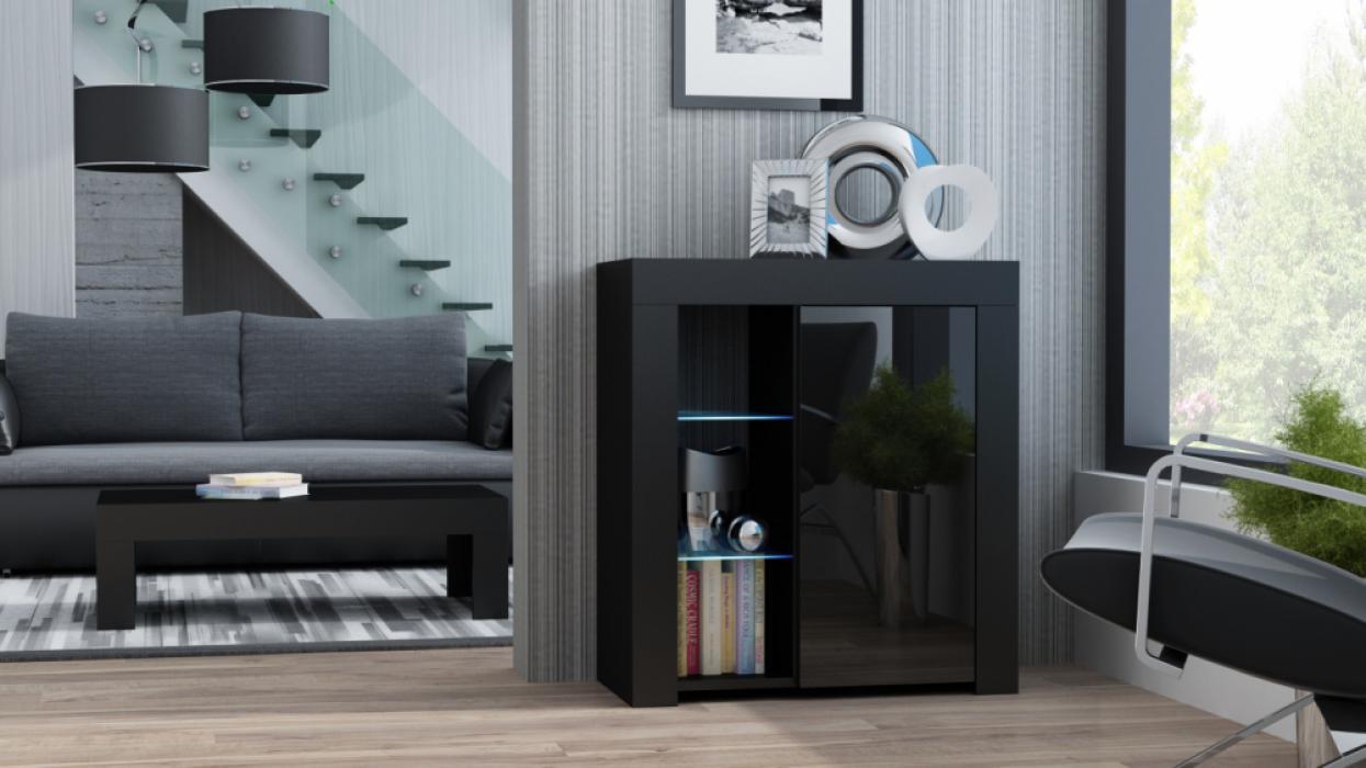 Milano Sideboard 1D - schwarz