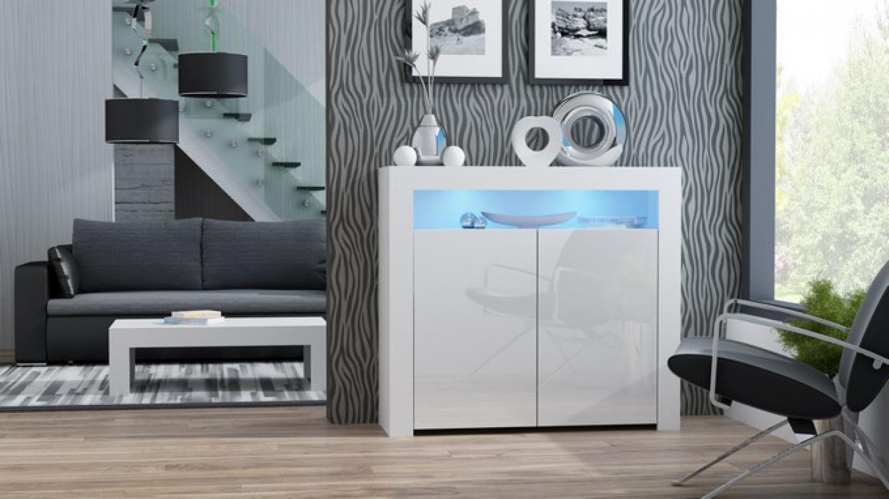 Milano Sideboard 2D - Weiß