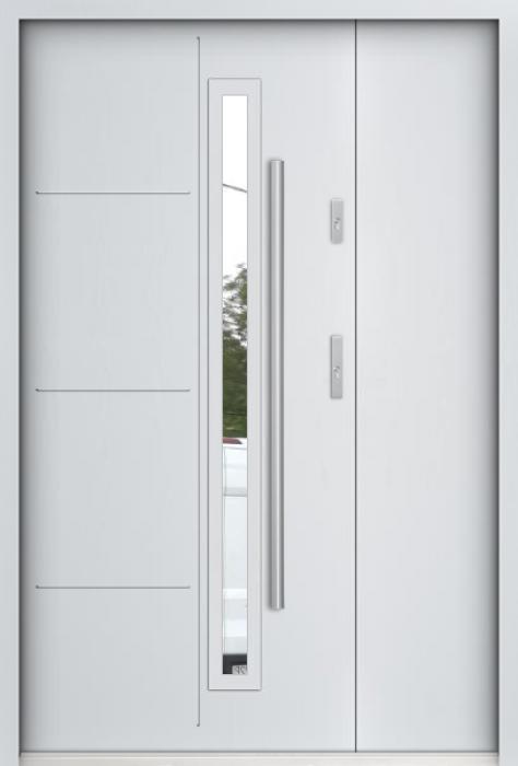Sta Arago Uno - Edelstahl Haustür mit Seitenteil