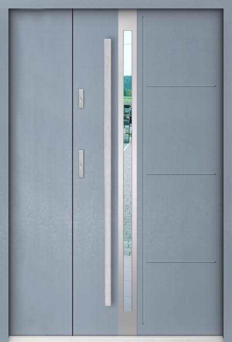 Sta Galileo Uno - Edelstahl Haustür mit Seitenteil