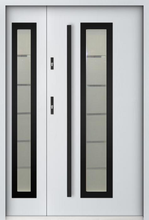 Sta Hevelius Duo Noir - Haustüre mit Seitenteil
