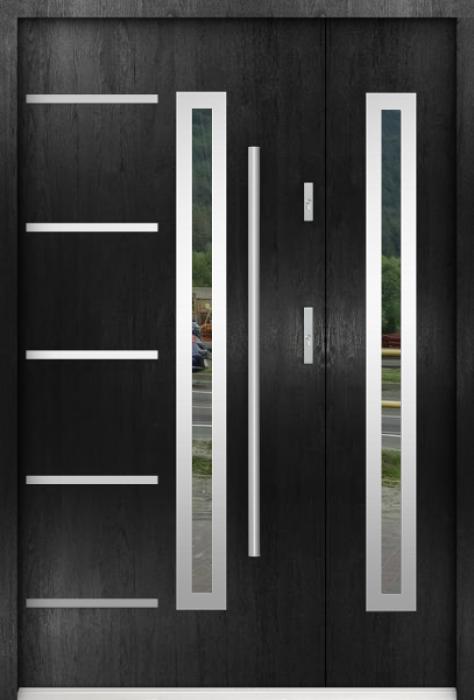 Sta Picard Duo - Edelstahl Haustüre mit Seitenteil
