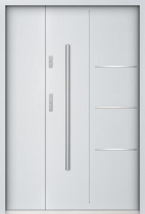 Sta Pires Uno - Haustüren Simply Edelstahl mit seitenteil
