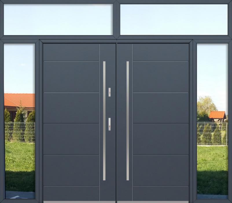 kundenspezifische Konfiguration - Fargo Doppeltür mit linkem und rechtem Seitenteil und Oberlicht