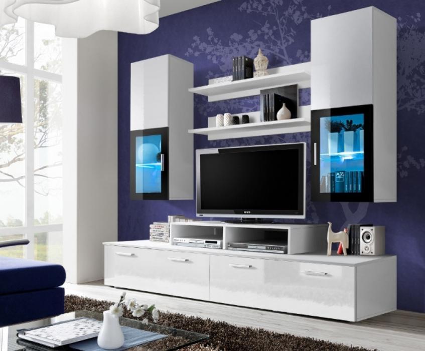 Toledo 1 - Wohnwand weiß