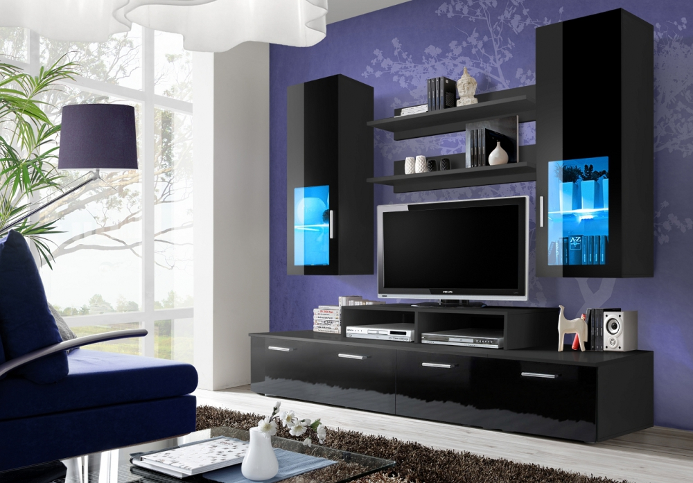 Toledo 3 - Wohnwand schwarz