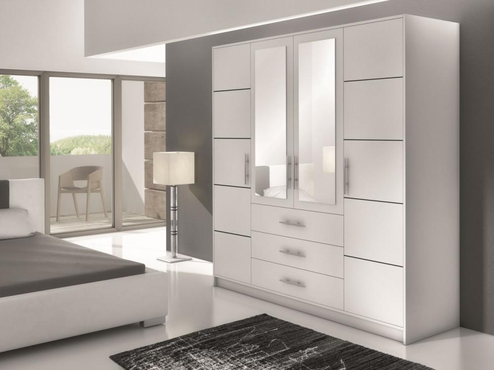 Bolton D4 - Schlafzimmer weiß