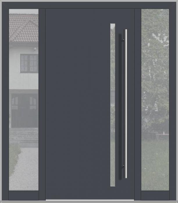 LIM-Tür mit linkem und rechtem Seitenlicht (Ansicht von außen)