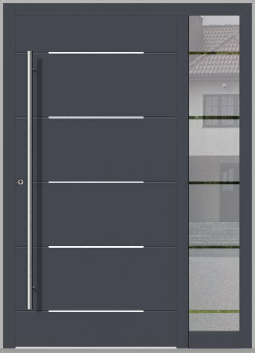 LIM-Tür mit rechtem Streiflicht (Ansicht von außen)
