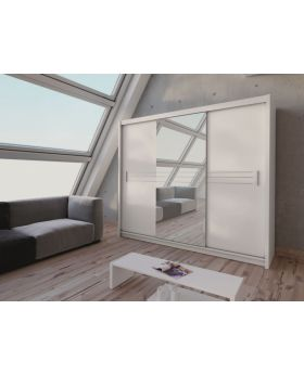 Harlow 250 - White armoire with mirror
